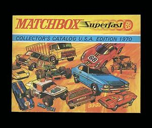 MATCHBOX SUPERFAST COLLECTOR'S CATALOG - U.S.A. EDITION - 1970 - UNUSED