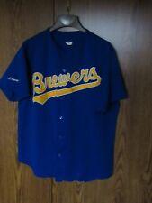 1990's VTG Milwaukee Brewers MLB Baseball Jersey Size men's XL Majestic mesh