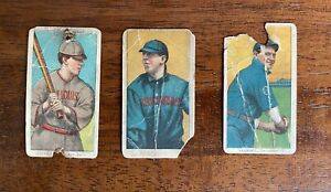 1909-1911 T206 Lot of 3 Sovereign tobacco cards
