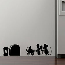 Family Baby Mouse Hole Wall Sticker Home Kids Room Decor Quote Vinyl Art Decal