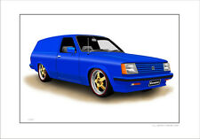 HOLDEN  GEMINI  TG   PANELVAN     LIMITED EDITION CAR PRINT AUTOMOTIVE ARTWORK