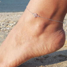 Simple Silver Chain Anklet Ankle Bracelet Barefoot Sandal Beach Foot Jewelry BH