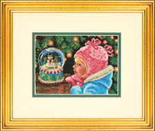 Christmas Wishes Dimensions X Stitch Kit (8936) enfant, Snow Globe