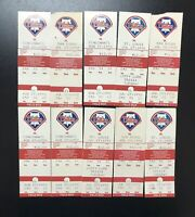 Lot of 10 Old Philadelphia Phillies Game Tickets 1992 1993
