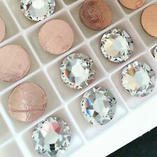 Swarovski Crystals Hotfix - 7 sizes - Clear rhinestones diamantes flatbacks gems