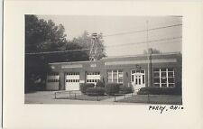 Ohio Real Photo RPPC Postcard 1950+ PERRY Fire Department City Hall