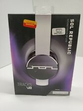 SOL Republic V8 Headphones - White - New In Box HOOKS TO IPHONE, IPAD, IPOD
