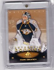 10-11 2010-11 SP GAME USED MARK DEKANICH GOLD SPECTRUM ROOKIE 1 OF 1 1/1 104