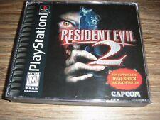 RESIDENT EVIL 2 Dual Shock Black Label Playstation 1 PS1 with Registration Card