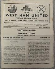More details for west ham united v swansea town 1953/54