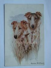 VIVIAN MANSELL RUSSIAN WOLFHOUNDS levriero Greyhound cane dog vintage post card