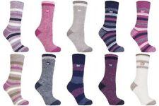 Heat Holders - Damen Gemusterte Twist Thermal Socken in 10 Farben, Größe 37-42