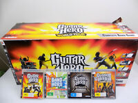 Boxed Like New Boxed Playstation 3 Ps3 World Tour Guitar Hero Bundle + 4x Games