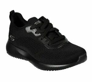 Womens Skechers Lightweight Memory Foam Lace Up Shoes Trainers Size UK 9 Black