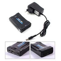 SCART to HDMI Video Audio Converter Scaler Box CRT DVD SKY Box PS3 1080P