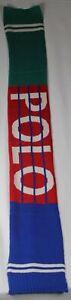 Polo Ralph Lauren Downhill Skier Stadium Hi Tech Wool Scarf NWT