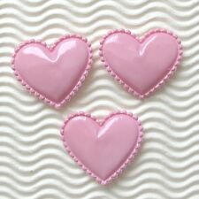 """US SELLER - 50 pcs x 1.5"""" Padded PVC Heart Appliques/Valentine's for Bows ST372P"""