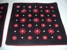 Pr Vintage Mirror Work Embroidery Pillow Covers Aarong Bangladesh Black Red