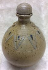 Jugtown, Seagrove, N. C. Art Pottery, 1975 Chinese Oil Jug, Bud Handle, Stopper