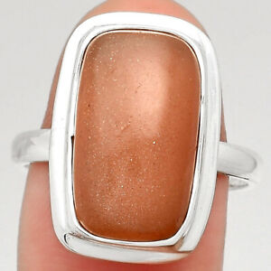 Sunstone - Namibia 925 Sterling Silver Ring s.8.5 Jewelry E821