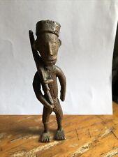 New listing Antique Primitive Metal Soldier Figure w/Rifle Short Pants Bare Feet