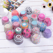 Random 100X Cupcake Liner Baking Cups Mold Paper Muffin Cases Cake Decor
