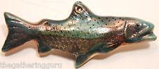 Raku River Trout  Christmas Ornament Fish Fishing Alaska Pacific Northwest Art