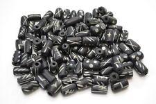 "100 PCS BLACK CARVED BUFFALO BONE BEADING BEADS 1/2"" #T-1098"