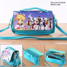 Anime Sailor Moon Crystal Leather Purse Handbag Clutch Messenger Bag Makeup Gift