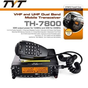 TYT TH-7800 Mobile Transceiver Amateur Cross-band Repeater Radio Communication