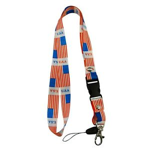 One Piece Country Flag Lanyard Keychain Pass holder ID Holder - New