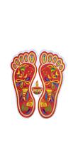 Shri Laxmi lakshmi Charan Paduka Decorative sticker diwali decoration