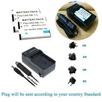2x NB-11LH Battery for Canon PowerShot SX420 SX410 iS IXUS 285 275 190 +Charger