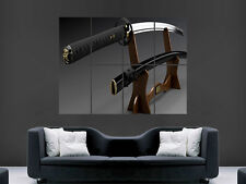KATANA Samurai Épée grand art Big grand géant Poster Print