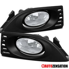For 2005-2007 Acura RSX Clear Lens Lights Bumper Lamps Pair+Bulb+Switch