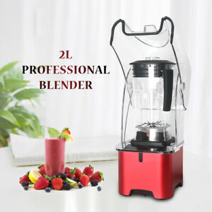 2L Commercial Ice 2200W Powerful Blender Smoothie Juice Machine Sound Insulation