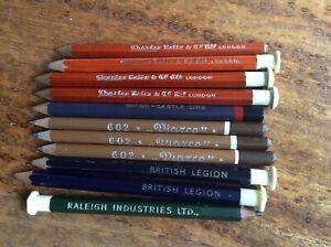 Lot of 11 Vintage Wood Pencils