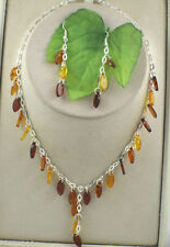 Sterling Silver Amber Fine Jewellery Sets
