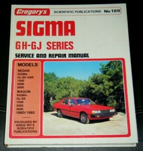 Vintage Gregory's Sigma GH-GJ Series Service And Repair Manual 1980-1983 No189