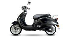 Venezia schwarz matt 50CCM 25Km/h Retro Motorroller Scooter Roller Mofa Burnout