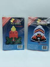 Christmas Jingles Plastic Canvas Ornament Kits- Bell  & Candle with. Holly FUN!