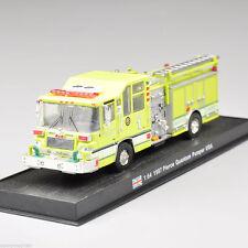 1997 Pierce Quantum Pumper Fire Truck Diecast Vehicles Car Yellow 1/64 Scale Toy