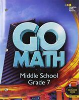 Go Math!: Student Interactive Worktext Grade 7 by MCDOUGAL 1st ed.
