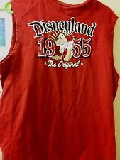 RARE  UNISEX DISNEYLAND EMBROIDERED TANK TOP SIZE L. 100%COTTON EX.COND.