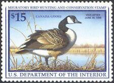 RW64, $15.00 Canada Goose Federal Duck Stamp VF OG NH -Stuart Katz