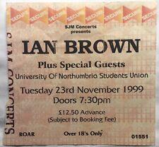 Stone Roses Ian Brown Original Concert Ticket University Of Northumbria 1999