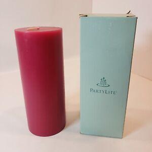 "PartyLite Harvest Wine 3"" x 7"" Flat Top Round Pillar Candle Retired NIB 3004"