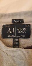 armani men's Autumn winter jumper very warm large brand logo on front