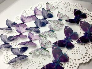EDIBLE Wafer Butterflies CAKE CUPCAKE BIRTHDAY WEDDING BABY SHAWER Tea Party