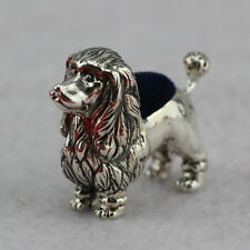 Novelty Sterling Silver Poodle Dog Pin Cushion